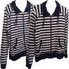 Striped Duster Top with Kangaroo Pockets