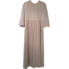 Net Dress with Poly Underlay, Lace Top and Balloon Sleeves